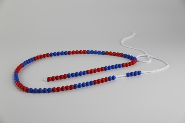 100er Rechenkette blau/rot im Zahlenraum bis 100, im 5er Schritt