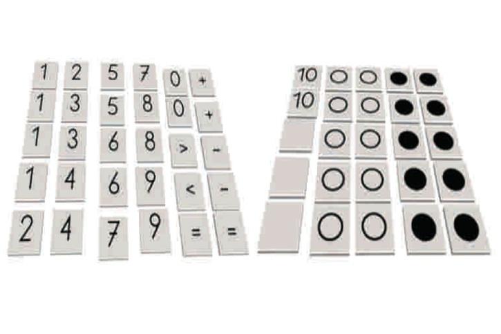 Elementesatz für Legekasten Mathematik