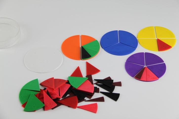 Bruchrechenteile rund, 10 Vollkreisteilungen