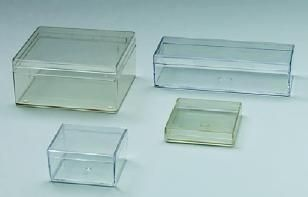 Klarsichtdose F, Kunststoffschachtel, 152/48,5/16 mm