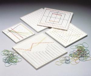 Geobrett 1, 5x5 und 6x6 Stifte, 21x21cm