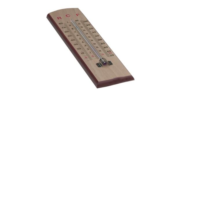 Wandthermometer mit Skalen für Reaumur, Fahrenheit und Celsius