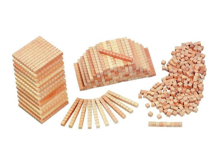 Dienes Grundsortiment aus Holz, Klassensatz, im Kunststoffkasten