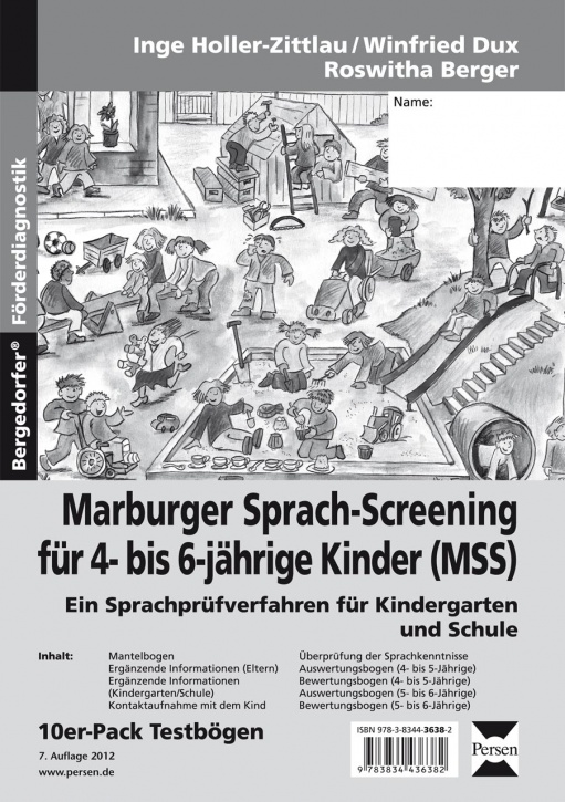 Marburger Sprach-Screening, Testbögen
