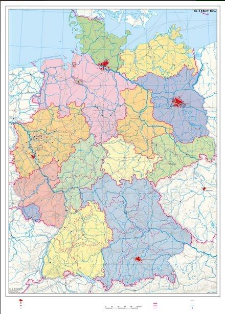 Wandkarte Deutschland stumme Lernkarte