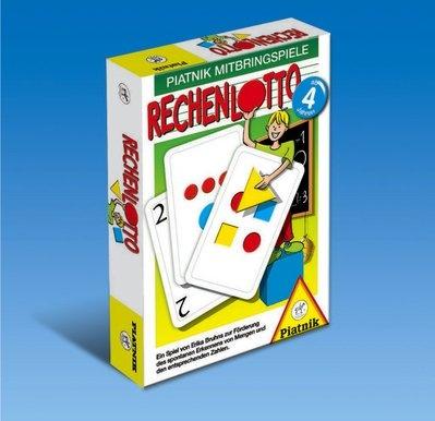 Rechenlotto - Erkennen von Mengen - Lernspiel von Piatnik