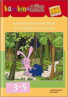 bambinoLük-Heft Spannende Erlebnisse mit Elefant und Hase