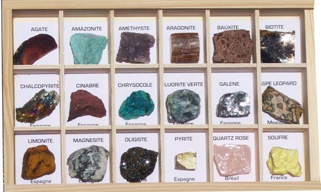 Schulsammlung Mineralien