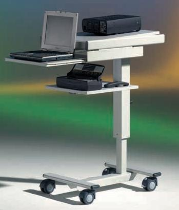 LCD-Projektionswagen DV20V, stufenlos höhenverstellbar