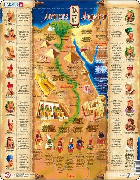 Puzzle - Antikes Ägypten, Format 36,5x28,5 cm, Teile 95