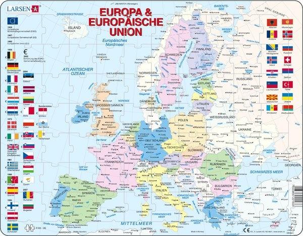 Puzzle - Europa und die Europäische Union, politisch, Format 36,