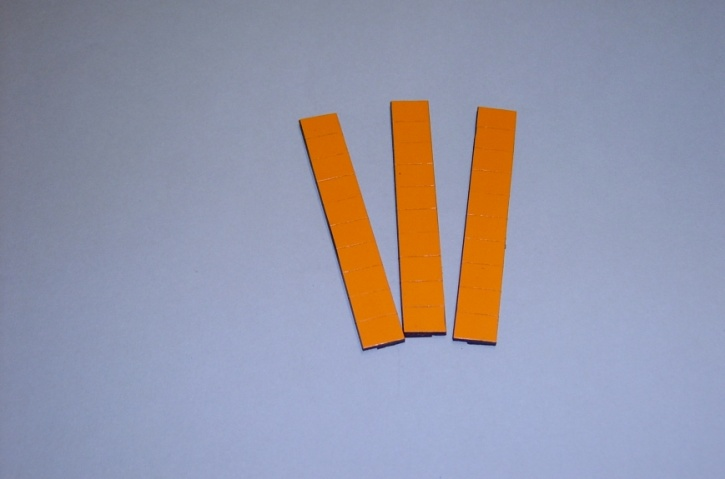 Satz Kippmagnete für Zusatzpläne, orange