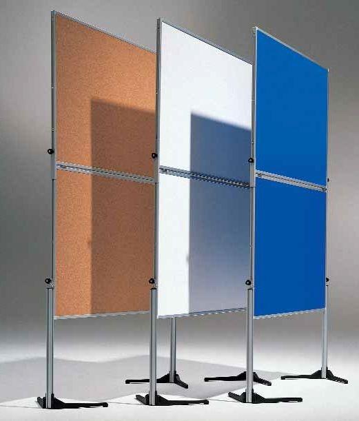 Moderationswand 120 x 150 cm, geteilt und klappbar, Tafelformat