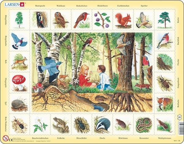 Puzzle - Im Wald,  Format 36,5x28,5 cm, Teile 48