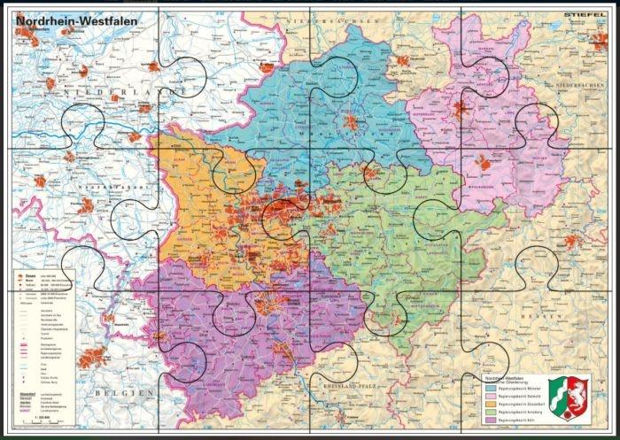 Nordrhein-Westfalen, politisch, magnetisches XXL-Puzzle