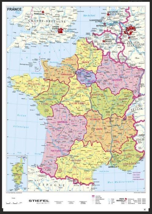 Frankreich, politisch, magnetisches XXL-Puzzle