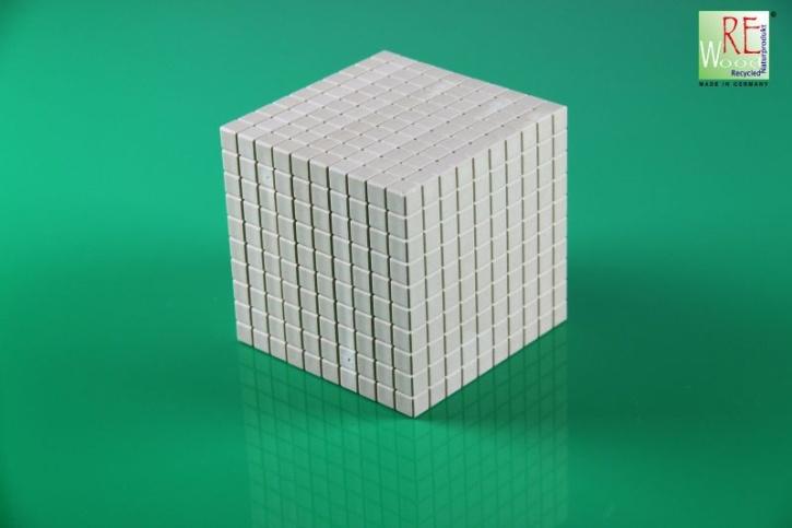 Dienes Tausenderwürfel, 1 Stück aus RE-WOOD®