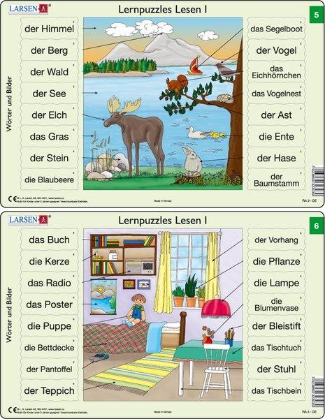 Puzzle - Lernpuzzles Lesen I (5 und 6)