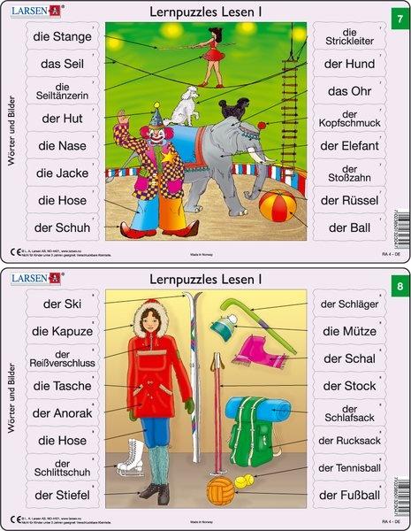 Puzzle - Lernpuzzles Lesen I (7 und 8) Format je Puzzle 28,5x18