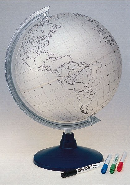 Stummer Globus, Ø 30 cm, beschreibbar