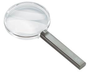 Handlupe IDEAL, 4fach Vergrößerung, 50mm Durchmesser, bikonvexe