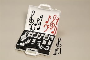 Musiknotensatz, Musiknotenkoffer, für 2,5-cm Lineatur, rot