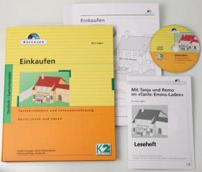HörLesen: Einkaufen, 1 Hörbuch als Audio -CD, 12 -seitiges Leseh