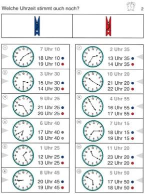 Bergedorfer Colorclips, Wie viel Uhr ist es?