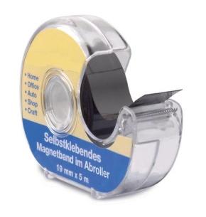 Magnetband, selbstklebend, im Abroller 5m, 19 mm breit