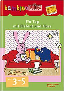 bambinoLük-Heft Ein Tag mit Elefant und Hase
