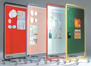 Fahrbare Trennwand mit Tuchoberfläche, Maße, B/H: 131 x 190 cm,