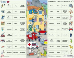Puzzle - Learning English Puzzle 10, Format 36,5x28,5 cm, Teile