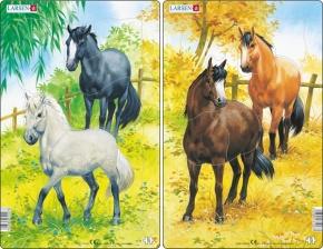 Puzzle - Pferde, Format 28,5x18,3 cm, Teile 10