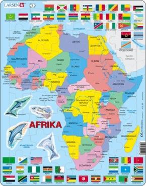 Puzzle - Afrika, Format 36,5x28,5 cm, Teile 48