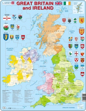 Puzzle - Great Britain and Ireland, englisch, Format 36,5x28,5 c