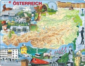 Puzzle - Österreich, physisch, Format 36,5x28,5 cm, Teile 72