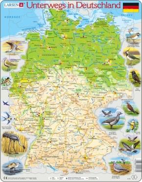 Puzzle - Unterwegs in Deutschland, Format 36,5x28,5 cm, Teile 91