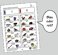 Bergedorfer Colorclips, Laute hören und unterscheiden 1
