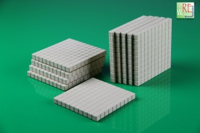 Dienes Hunderterplatte, 10 Stück aus RE-WOOD®