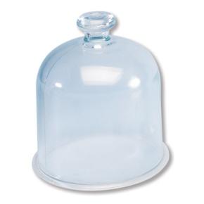 Vakuumglocke aus Glas mit Halteknauf