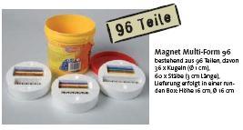 Magnet Multi-Form 96, runde Box mit 96 Teilen
