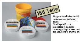 Magnet Multi-Form 186, runde Box mit 186 Teilen