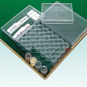 Klarsichtdose, Kunststoffkasten DIN-A5, 4 cm hoch, im 6er Pack
